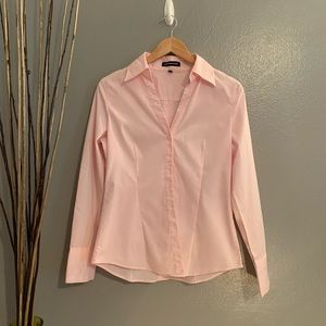 Express pink button down long sleeve sz Med
